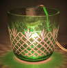 "Picture of Votive Candle Holder Mesh Cut Color Glass Green Set of 4 |3.25""Dx3""HI  Item No.73124"