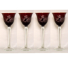 "Picture of Votive Candle Holder Tall Cut Color Glass Burgundy Set of 4 I3.75""Dx8""H