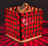 """Picture of Votive Candle Holder Mirror Mosaic Cube Red Set of 4  