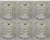 """Picture of Votive Candle Holder Mirror Mosaic Taper Silver  Set of 6  