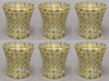 "Picture of Votive Candle Holder Mirror Mosaic Flare Gold  Set of 6  |3""Dx3.25""H