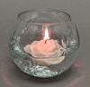 "Picture of Votive Candle Holder Glass Votive on Brass Grape Base Set of 2  |5""Dx3.5""H