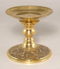 "Picture of Votive Candle Holder Red Mosaic Ball on Brass Base  |5""Dx7.5""H