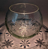 """Picture of Votive Candle Holder Clear Glass Ball on Silver Plated Lotus Base  5""""Dx6""""H  Item No.79006"""