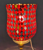 "Picture of Peg Votive Candle Holder Mirror Mosaic Red  Set of 2  |3.75""Dx5""H