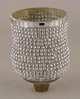 "Picture of Peg Votive Candle Holder Rhinestone Silver  Set of 4  |3""Dx4.25""H