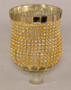 "Picture of Peg Votive Candle Holder Gold Rhinestone Set of 4  |3""Dx4.25""H