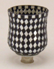 "Picture of Peg Votive Candle Holder Mirror Mosaic Black  Set of 4  |3""Dx4.25""H|  Item No.21264"