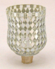 "Picture of Peg Votive Candle Holder Mirror Mosaic Silver  Set of 4  |3""Dx4.25""H