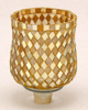 "Picture of Peg Votive Candle Holder Mirror Mosaic Gold Set of 4  |3""Dx4.25""H