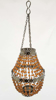 "Picture of Lantern Bead Votive Holder Hanging Chandelier Amber 3-Chains Set /2  | 5""Dx14""H |  Item No.30121"