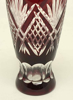 """Picture of Ruby Red Bud Vase Cut Glass Wine Glass Shape Set/2  
