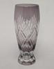 "Picture of Amethyst Color Bud Vase Cut Glass Wine Glass Shape Set/2    2.25""Dx6.5""H   Item No. 20659"