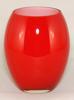 "Picture of Red Vase Glass Convex Floral Centerpiece Set/2  | 4""D x 7""H |  Item No. 12407"