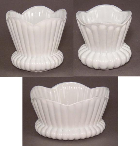 "Picture of Bowl White Painted Glass Flower Arrangement Set/3 | 8""Dx7""H |  Item No. K17012"