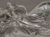 """Picture of Tray Silver Plated on Cast Brass  Antique Reproduction    12""""x7""""x4""""H    Item No. 29102"""