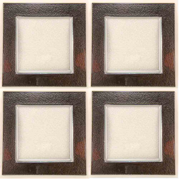 """Picture of Charger Plate Glass Square with Black Border Set/4  