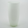 """Picture of White Vase Glass Tapered Cone Floral Centerpiece    7""""Dx14""""H    Item No. 12105"""