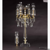 """Picture of Crystal Candelabra Gold  Ornate Arms 4 Light & Bowl or 5 Light   14""""W x 31""""H   Item No. 20220"""