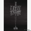 """Picture of Crystal Candelabra Five Light with Hurricane Shades 