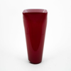 "Picture of Red Vase Glass Square Top Floral Centerpiece  | 6.25""Dx15""H 