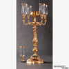 """Picture of Antique Gold on Brass Candelabra 4 Light & Bowl or 5 Lights 