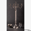 """Picture of Nickel Plated on Brass Candelabra 4 Light & Bowl + Glass Votives   16.5""""W x 36""""H   Item No. 79580"""