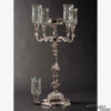 "Picture of Nickel Plated on Brass Candelabra 4 Light & Bowl or 5 Light | 17.5""W x 35""H 