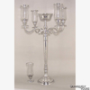 """Picture of Polished Aluminum Candelabra 4 Light & Bowl or 5 Light 