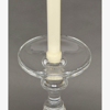 """Picture of Clear Glass Candle Holder For Pillar or Taper Candle Set/2  