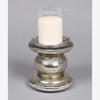 """Picture of Silver  Candle Holder Mercury Glass for Pillar Candles   4""""Dx6""""H   Item No. 16063"""