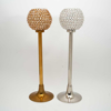 """Picture of Antique Gold Crystal Bead Ball Votive Candle Holder   7""""D x 27.5""""H    Item No. 16146"""