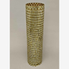 """Picture of Gold Vase Mosaic Glass Cylinder with Diamond Shape Gold & Mirror Chips   6""""Dx25""""H   Item No. 46211"""
