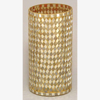 """Picture of Gold Vase Mosaic Glass Cylinder with Diamond Shape Gold & Mirror Chips Set/2 