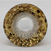 """Picture of Gold-Brown Vase Mosaic Glass Flare Top French Style Centerpiece  