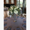 "Picture of Polished Aluminum Trumpet Vase Floral Centerpiece   6.5""Dx20""H    Item No. 22201"