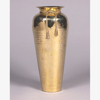 """Picture of Brass Vase Tapered Hammered with Rope Tie Centerpiece   8""""Dx17""""H    Item No. 05037"""