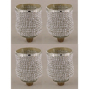 """Picture of Peg Votive Candle Holder Rhinestone Silver  Set of 4    3""""Dx4.25""""H    Item No.20124"""