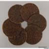 """Picture of Brown Mini Glass Bead Coaster Woven with Metal Wire on Fabric Backing Set/6    4""""Diameter    Item No. 20339"""