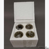 """Picture of Peg Votive Candle Holder Gold Rhinestone Set of 4  