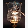 """Picture of Clear Glass Peg Votive Candle Holder Swirl Pattern Set of 4  2.5""""Dx4""""H  Item No.02287"""