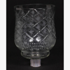 """Picture of Glass Peg Votive Candle Holder with Crosshatch and Star Etching Set of 2   3.75""""Dx5""""H  Item No. 20131"""