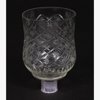 """Picture of Glass Peg Votive Candle Holder Crosshatch &Star Cut Etching Set of 4 