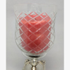 """Picture of Glass Peg Votive Candle Holder with Crosshatch Etching Set of 2  