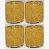 """Picture of Gold Bead Votive Candle Holder on Three Ball Feet Set of 4 I 2.75""""Dx3.5""""H I Item No. 20431"""