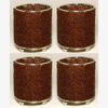 """Picture of Brown Bead Votive Candle Holder on Three Ball Feet Set of 4 I 2.75""""Dx3.5""""H I Item No. 20434"""