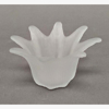 """Picture of Votive Candle Holder Frosted Glass Lily Shaped Set of 6  