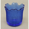 """Picture of Votive Candle Holder Blue Glass Tulip Set of 12  