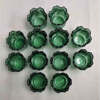 """Picture of Votive Candle Holder Green Glass Tulip Set of 12  