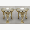 """Picture of Brass Angel Stand with Clear Glass Votive Holder Set of 2  I5.00""""D x 5.50""""HI   Item No.20145"""